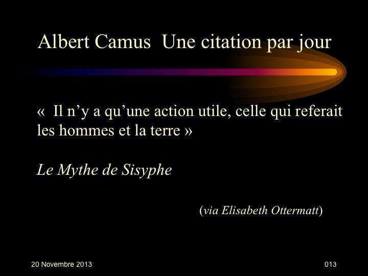 Albert Camus (1913-1960) n° 13