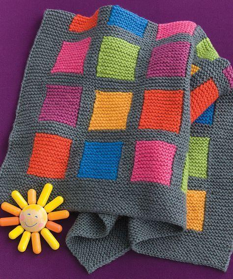 Happy Blocks Baby Blanket