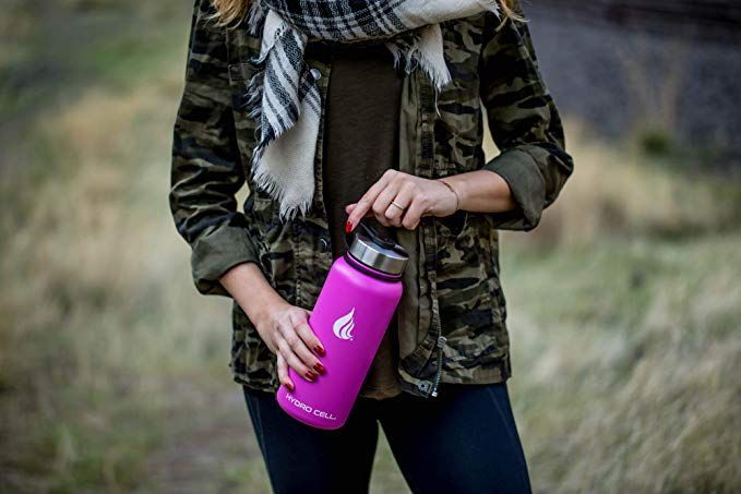 Camping & Hiking Hydration & Water Bottles Outdoor Sports HYDRO CELL Stainless Steel Water Bottle W/Straw & Wide Mouth Lid 40Oz 32Oz 24Oz