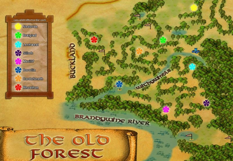 Old Forest Flowers Lotro Lord Of The Rings Rings Online Lotr