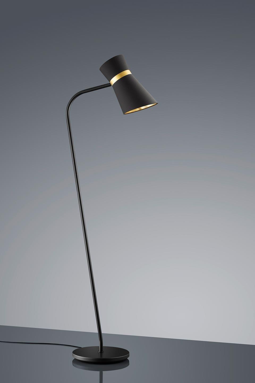 liseuse noire et dor e liseuse lampadaires et lampadaire liseuse. Black Bedroom Furniture Sets. Home Design Ideas