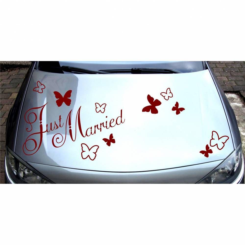 Just Married 04 Autotattoo Set In Wunschfarbe Hochzeitsaufkleber Hochzeitsdeko Hochzeitsdekoration Hochzeit Aufkleber Hochzeitsaufkleber Aufkleber