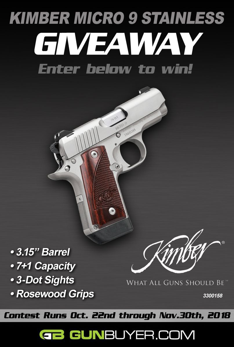 Win a NEW Kimber Micro 9 (3300158)! | giveaways | Kimber micro, Hand
