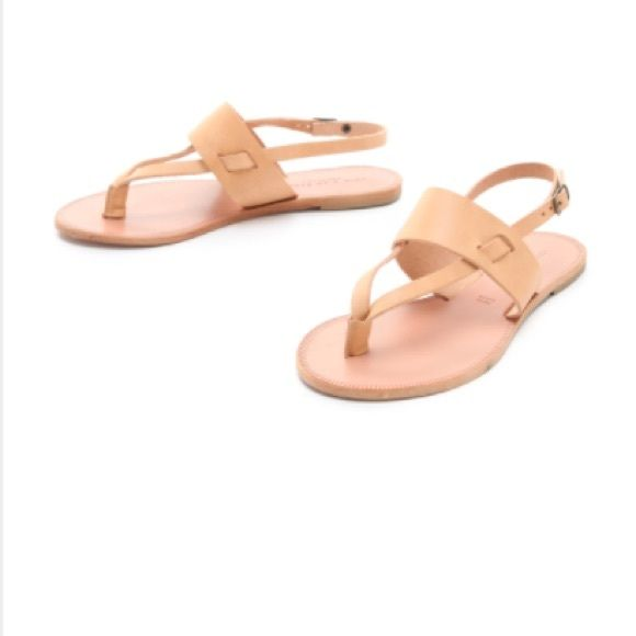 NWT Joie A La Plage Menton Sandal-Natural 37.5 NWT, never worn, Joie A La Plage Menton Sandal in Natural 37.5, which is approximately a 7.5. Made in Italy, these sandals are 100% leather in a beautiful natural color that goes with everything! Joie Shoes Sandals