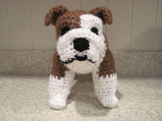 Bulldog Stuffed Animal Crochet Pattern - Digital Download - ENGLISH ...