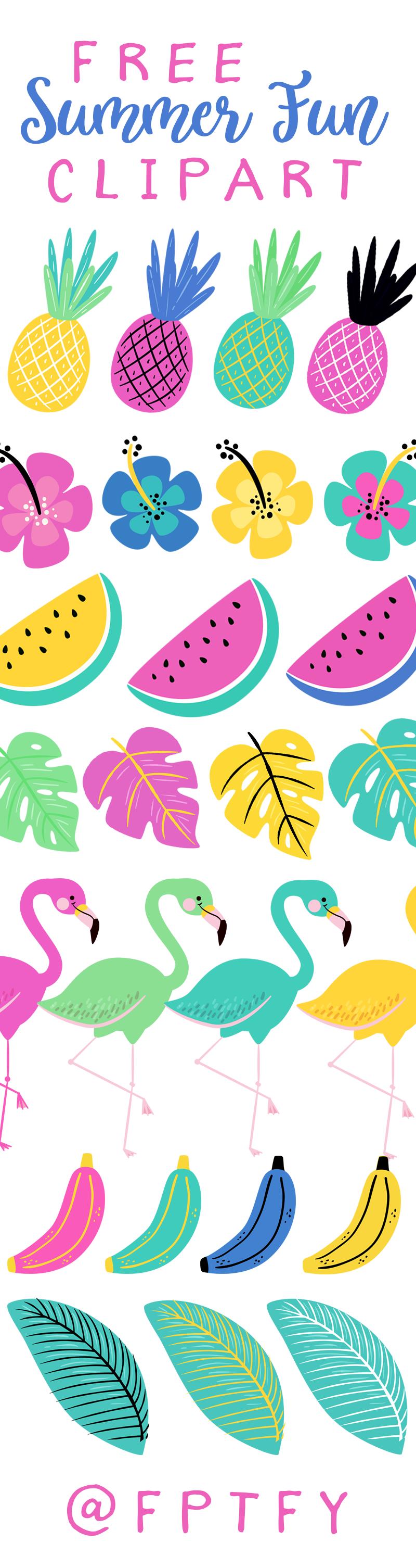 Free Clip Art Summer Fun : summer, Summer, Clipart!, Pretty, Things, Freebies,