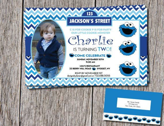 Hey i found this really awesome etsy listing at httpsetsy cookie monster birthday invitation with by designsbydanav on etsy filmwisefo Gallery