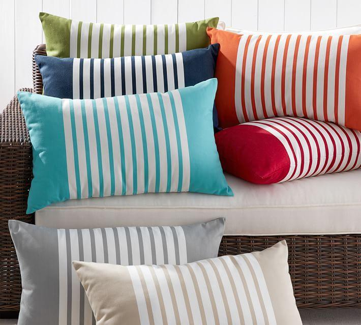 Mariner Stripe Indoor/Outdoor Pillow | pillows & drapery | Pinterest ...