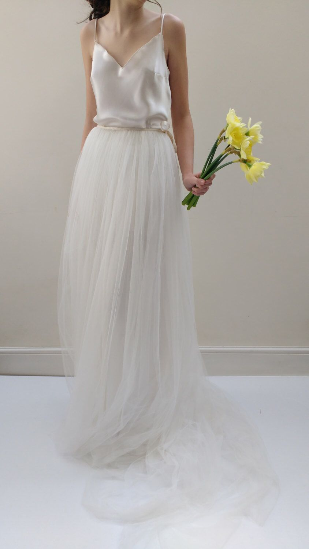 Ecru wedding dress  Wedding Dress Separates  Wedding Gown Camisole Top by