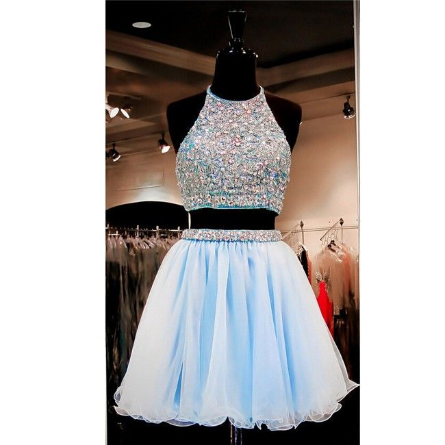 Cute Short Prom Dress Sheer Beaded Chiffon Midi Special Occasion Cocktail Dress