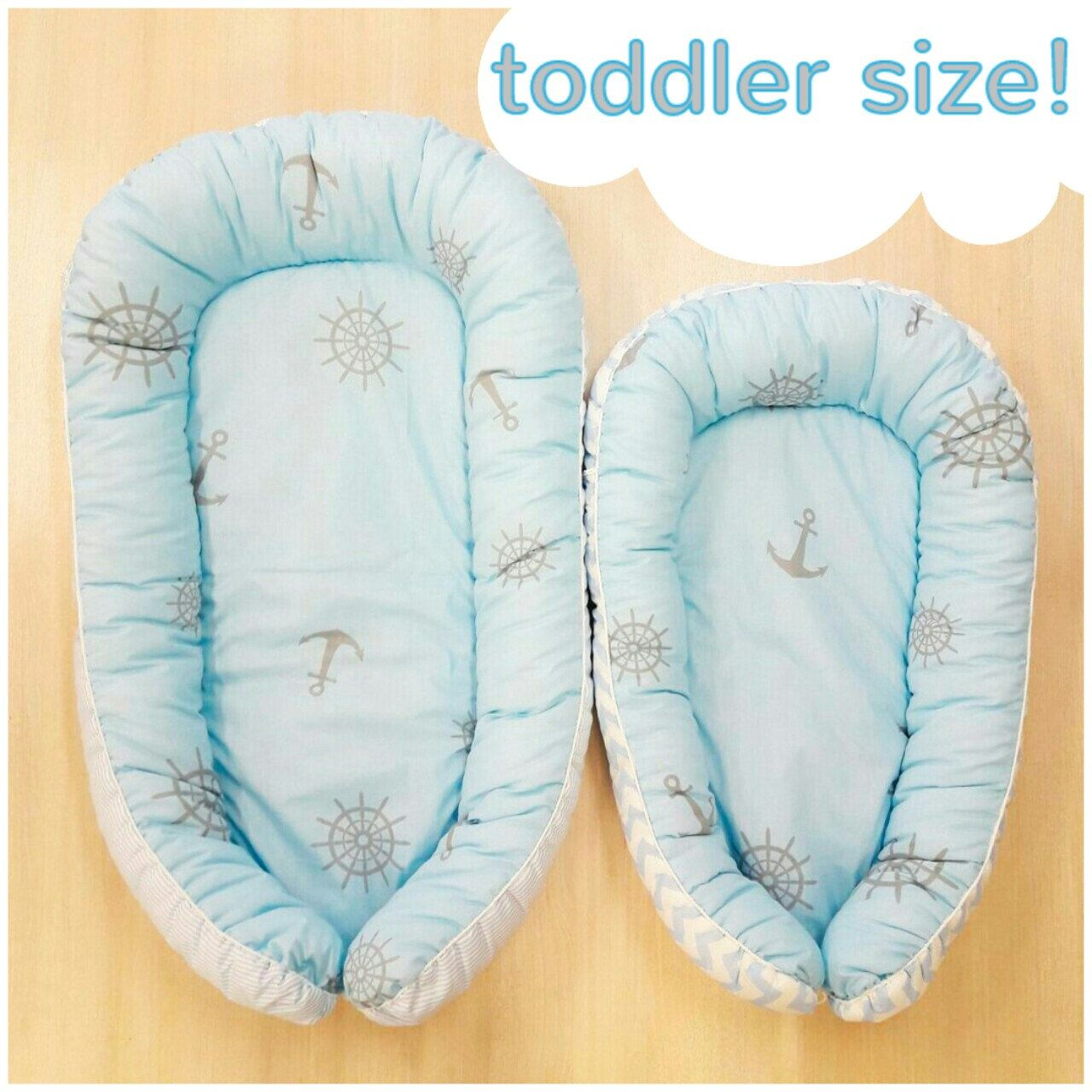 Baby bed and pillow - Toddler Size Blue Breeze Baby Nest Babynest Baby Bed Baby Pillow Co Sleep Travel Bed Baby Sleep Baby Cocoon Baby Shower Gift