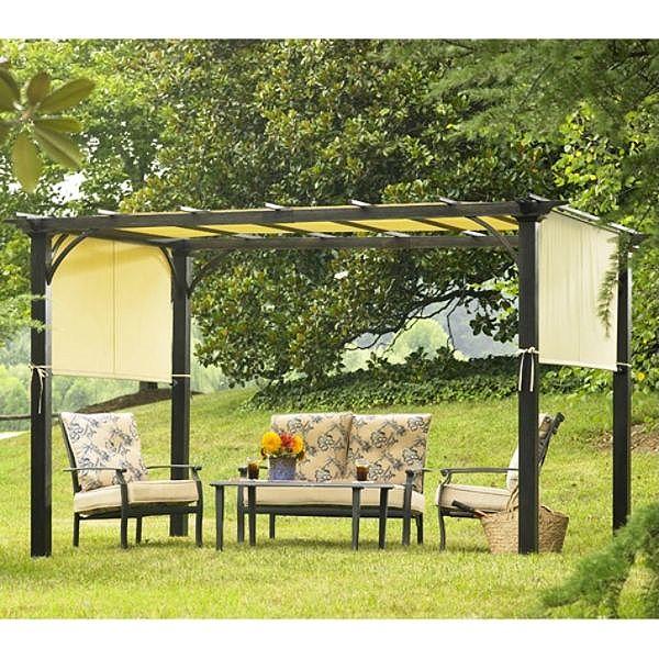 Sears Garden Oasis Deluxe Pergola 2010 Replacement Canopy Pergola Pergola Garden Gazebo Replacement Canopy