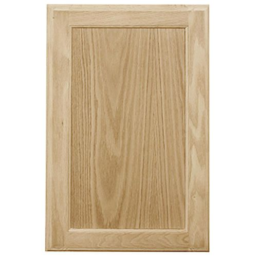 Mastercraft Unfinished Oak Square Recessed Panel Cabinet Door 16 W