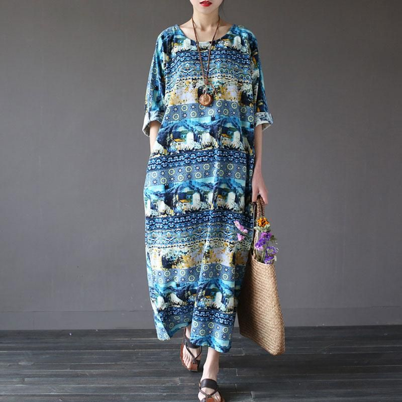 bfe56d8548e1 Women Pullover Printed Pockets Dress | Products | Summer dresses ...