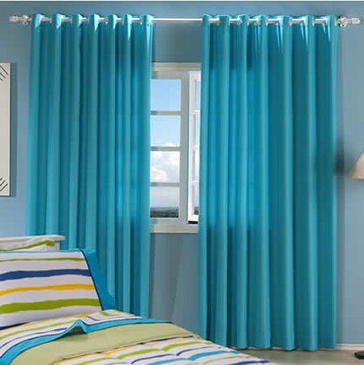 Resultado de imagen para cortina azul turquesa marrom | Hogar
