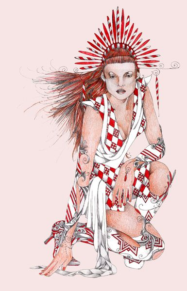 m-art-fashionillustration: Disegno a mano colorato : per alta moda 8
