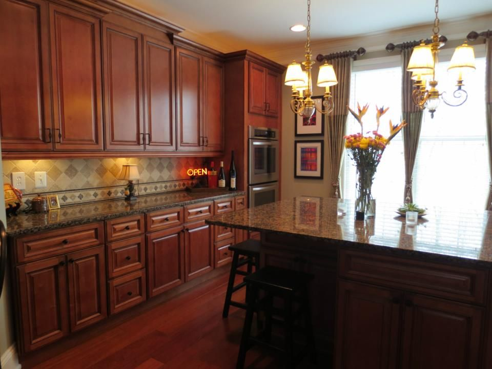 Sienna Rope Completed Kitchen March 2013 Buy Sienna Rope Cabinets From Kitchen Cabinet Kings