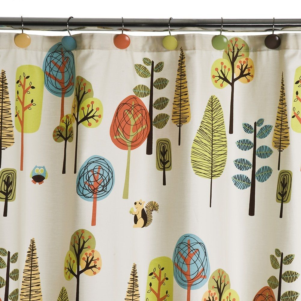 Circo Floral Owl Shower Curtain