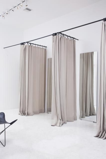 The Curtains As Room Divider Inside Zimmerman Boutique Style De Vie