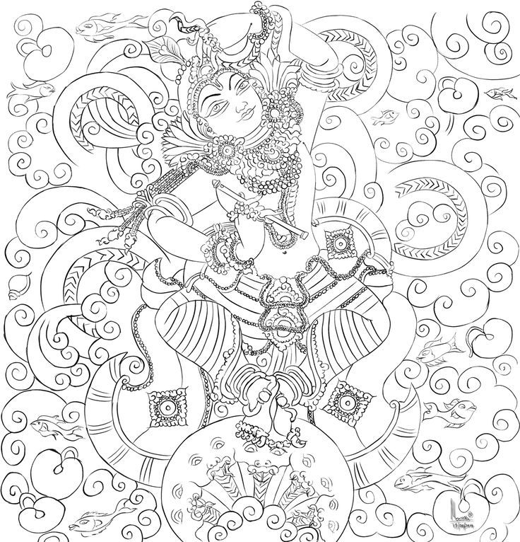 Line Art Mural : Image result for kerala mural painting outline sketches