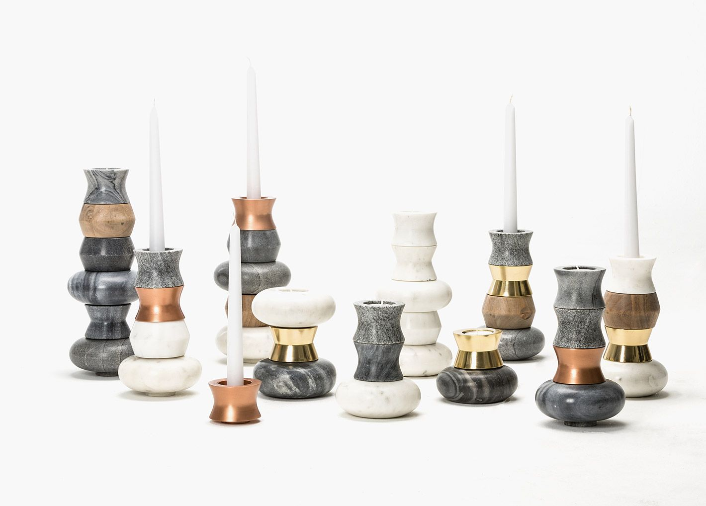 Forestier - visuel-ambiance-home #maisonobjet #candle 3holders #gold