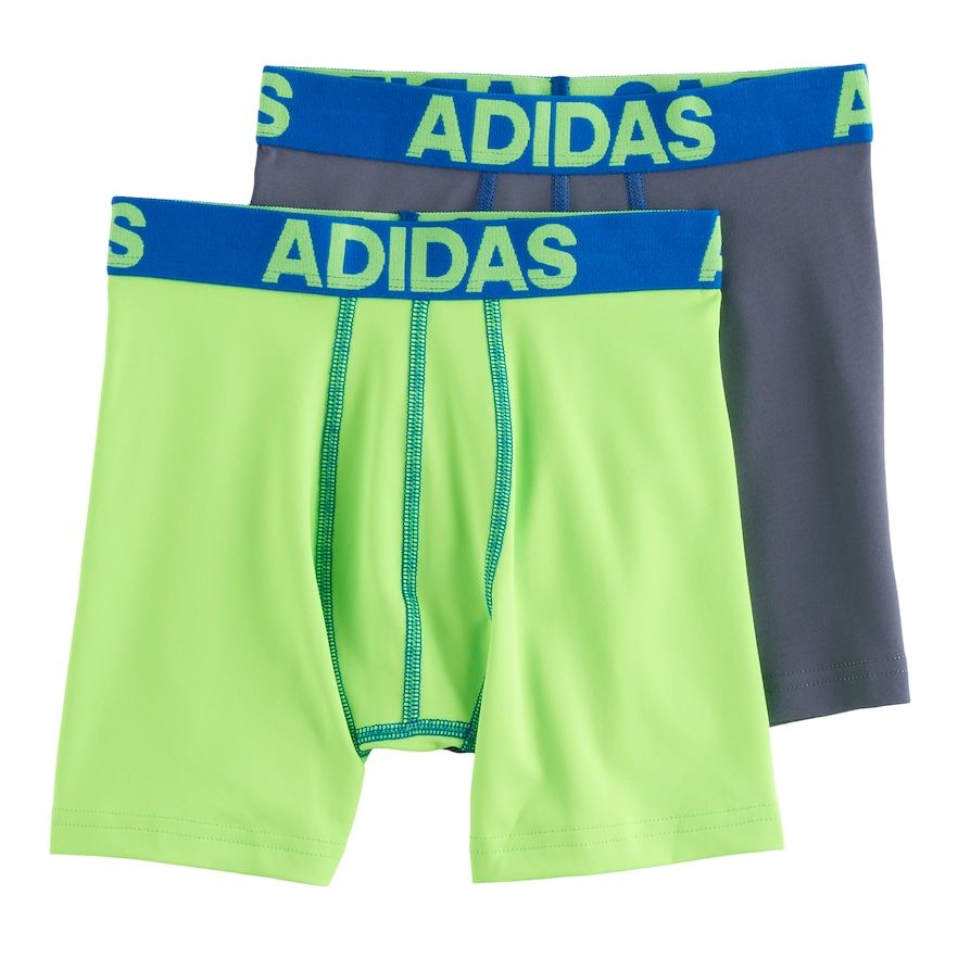 2 Pack Small adidas Boys/' Climalite Long Boxer Brief