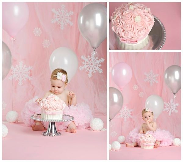 "A Pink Winter ""ONE""derland Cake Smash Session | Kitchener Baby ..."