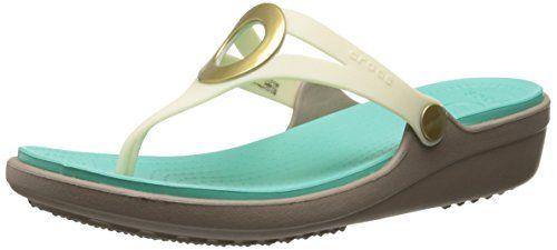 a8d5d2d9e81e crocs Women s Sanrah Wedge Flip Flop