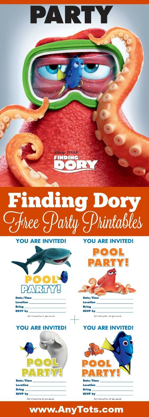 Finding Dory Free Printable Poster for a Fun Finding Dory Party ...