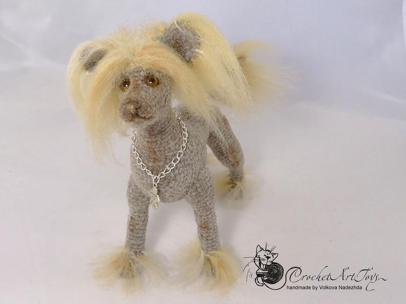 Chinese Crested Dog Gift Crochet