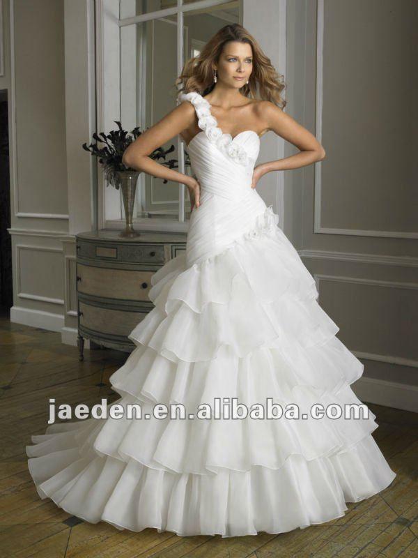 flores jw0404 uno correas de corte imperio capas de novia vestido d