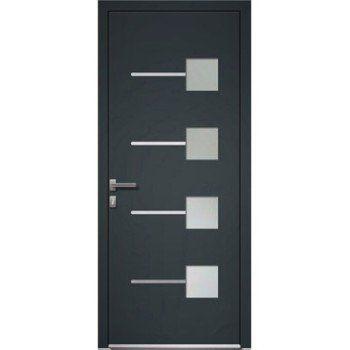 Porte Dentrée Aluminium Excellence Poussant Gauche H215 X