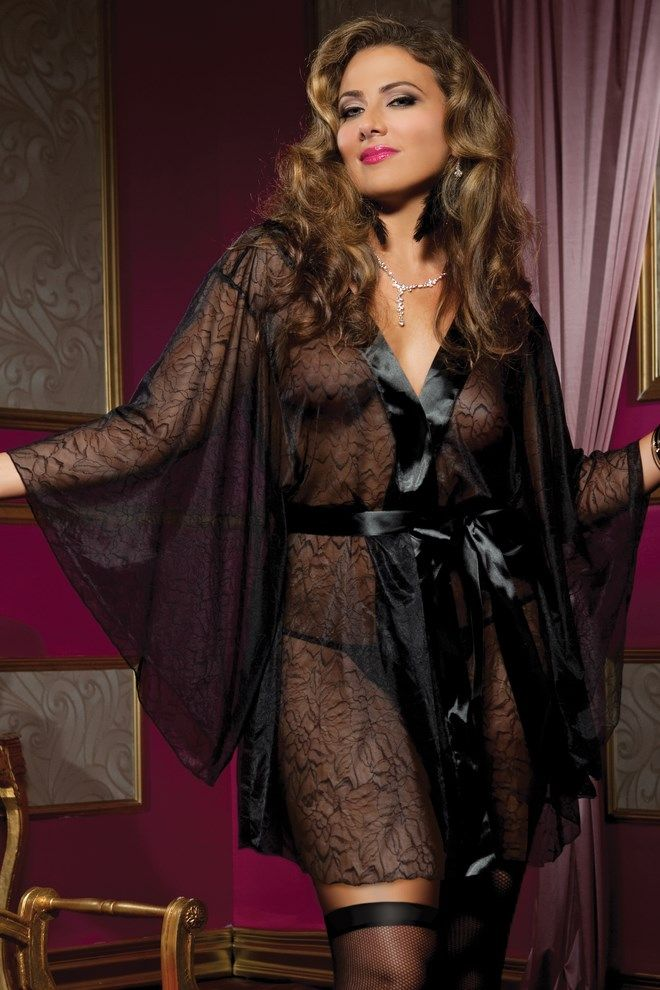 Secret Affair Lace Robe from Seven Til Midnight