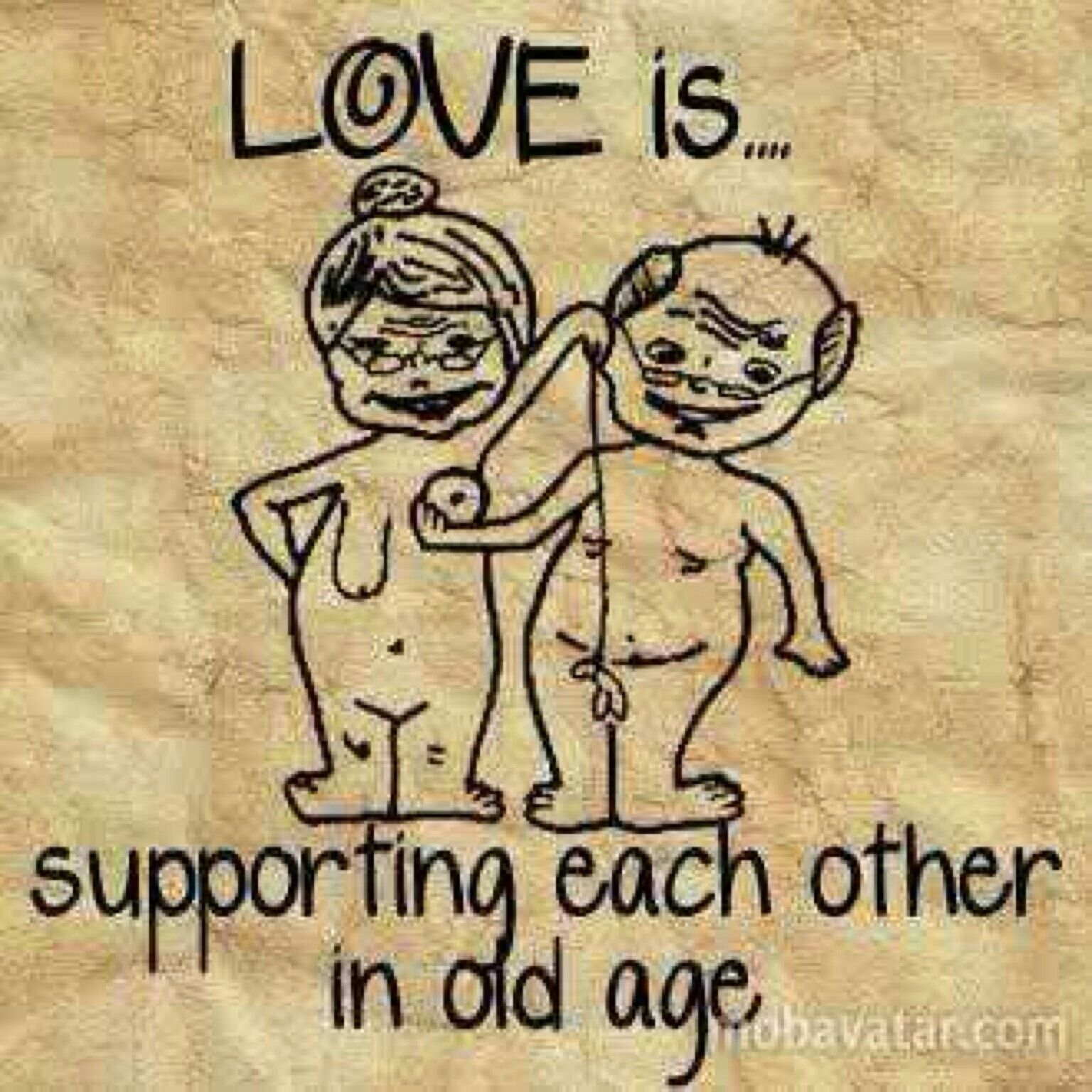 Love is supporting each other in old age Quotes 2016 Relationship