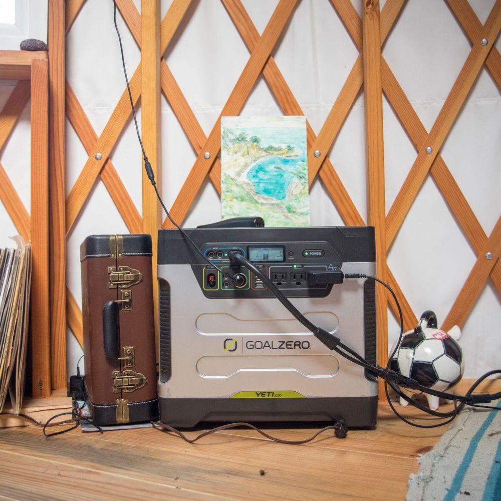 Yeti 1250 Portable Power Station Solar Generator Goal Zero Goal Zero Solar Generator Solar Energy Panels Solar