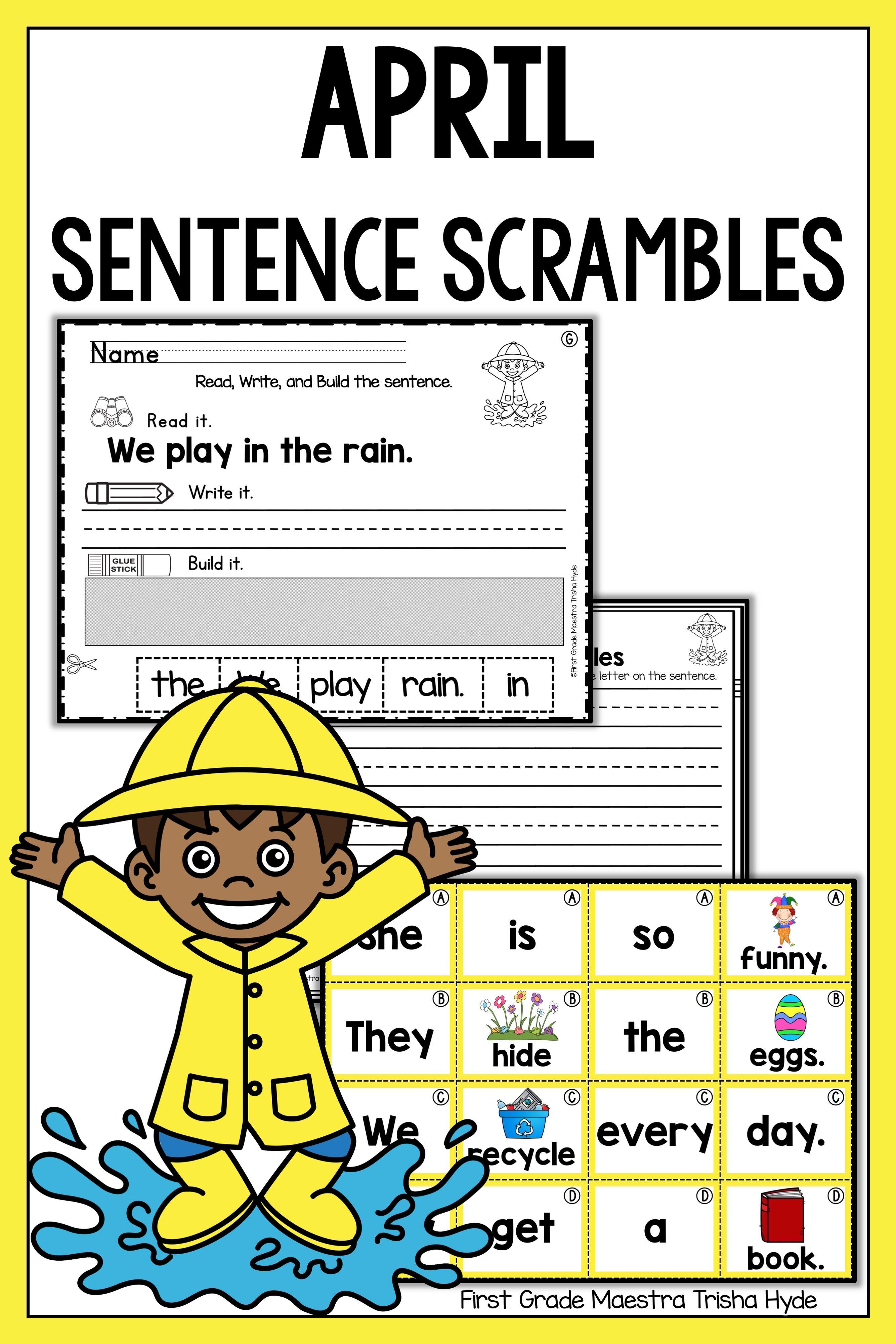 April Sentence Scrambles