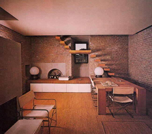 Gae aulenti apartment interiors mid century interiors for Interior designer roma