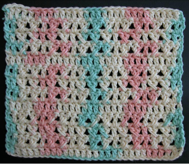 Free crochet dishcloth pattern: Formal Garden by Drew Emborsky aka ...