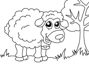 Kitap Boyama ücretsiz Online Koyun çiftlik Hayvanları çocuklar