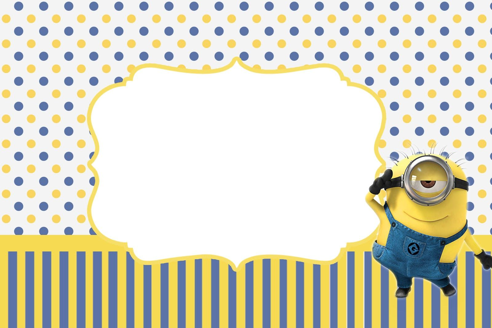 Inspired in Minions Party Invitations, Free Printables. | Oh My ...
