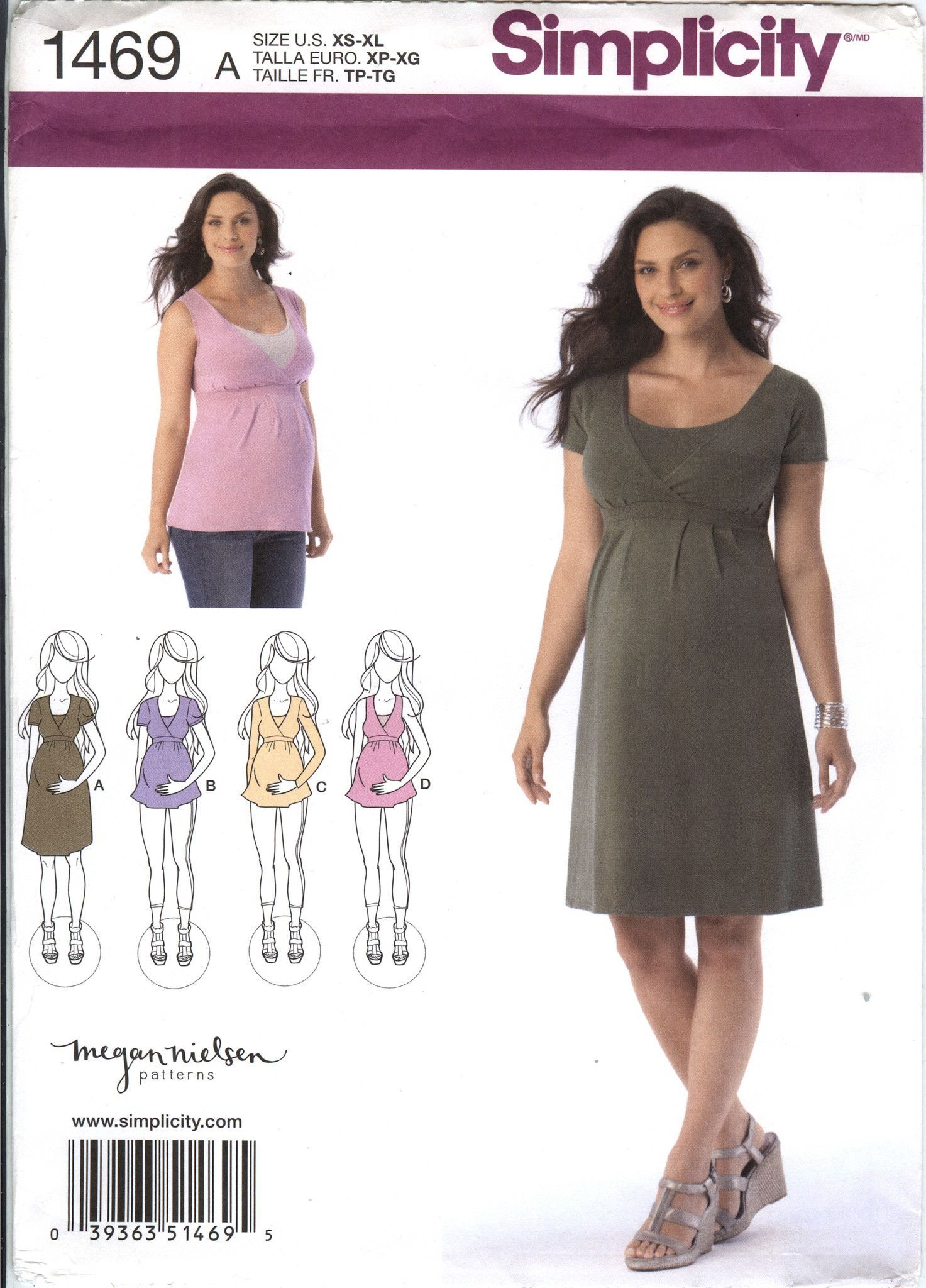 b7eb0568e Simplicity 1469 Misses' Maternity and Nursing Knit Dress or Top ...