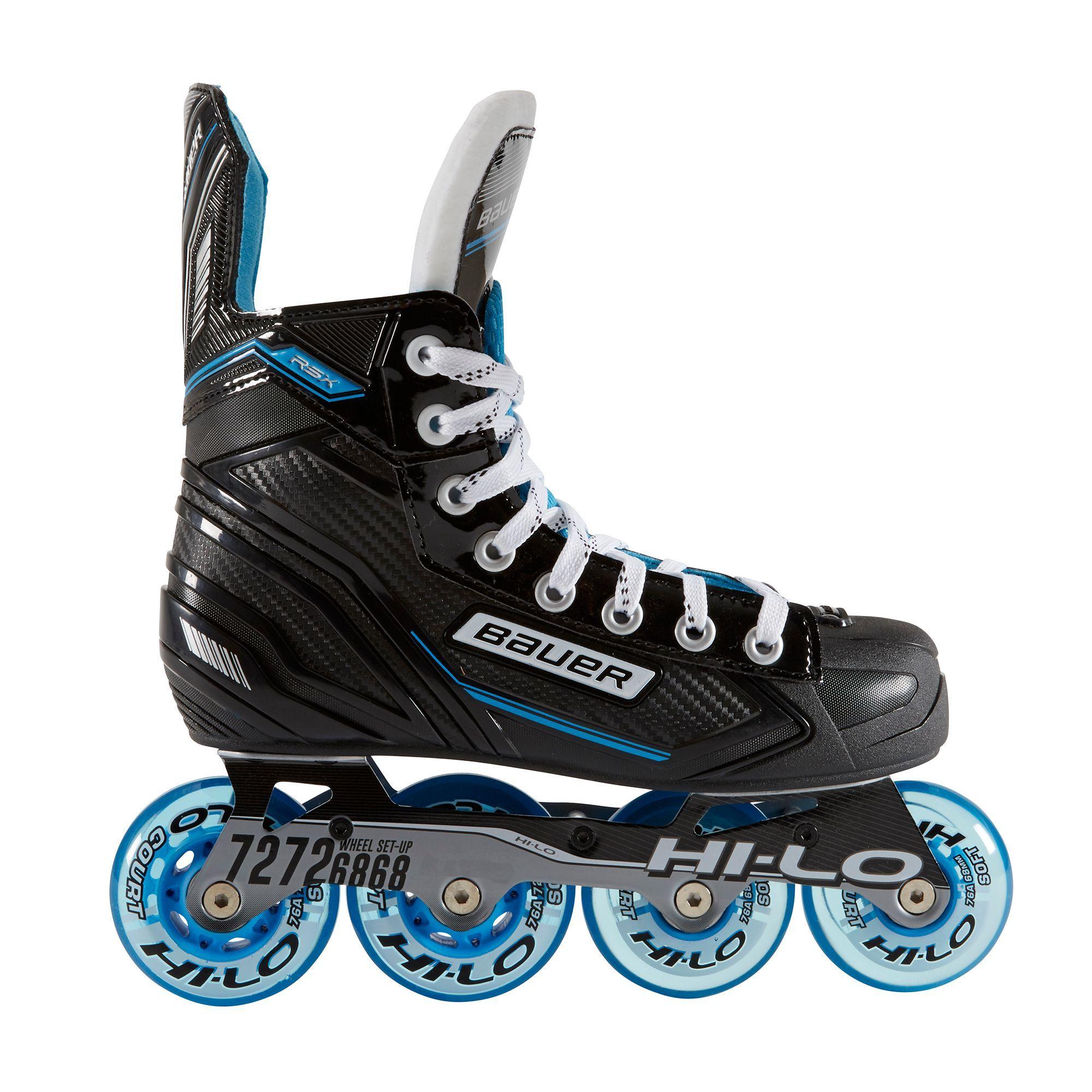 Bauer Senior Rsx Roller Hockey Skates In 2020 Roller Hockey Skates Hockey Roller Skating