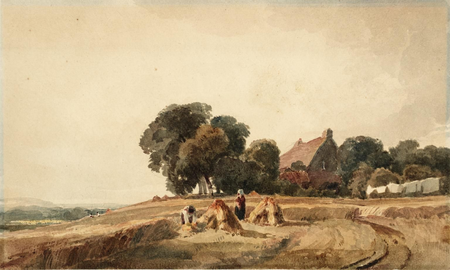 Peter De Wint Cottage And Harvesters Date Not Known In 2019