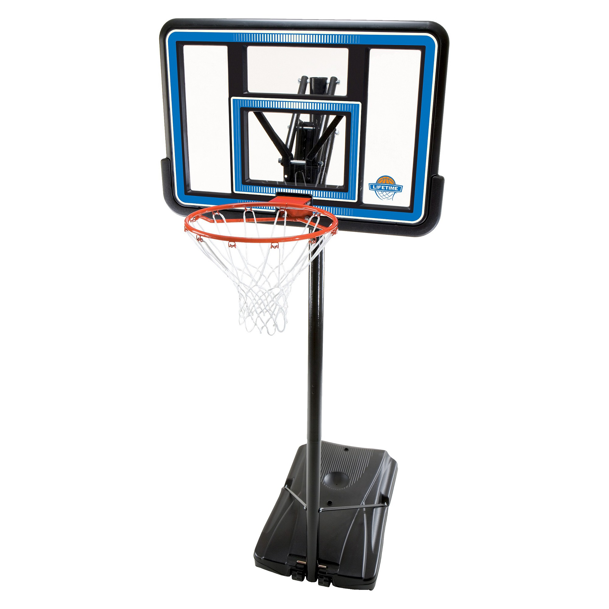 lifetime 44 quick adjust portable basketball hoop portable