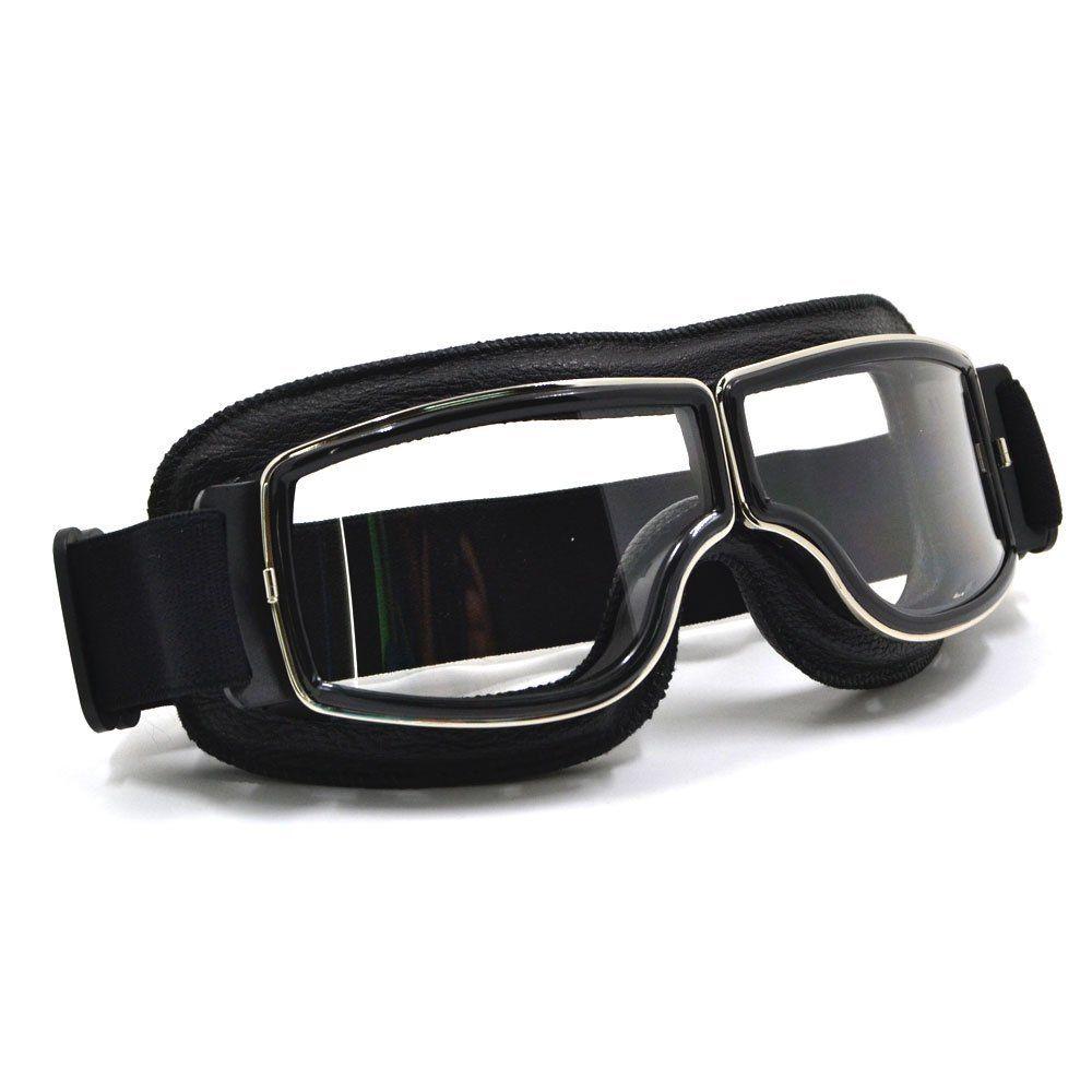 Crg fashion classic goggles black frame clear lens https