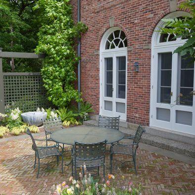 Bon Brick Patio With Brick House
