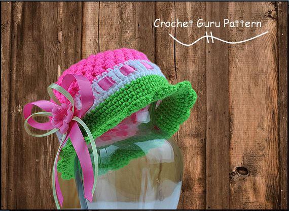 Crochet Pattern - Hat Pattern- Cloche Hat - 5 Sizes - Baby to Adult Sizes - Instant Download - PDF Format