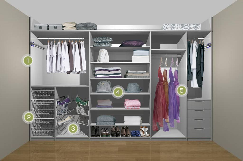 Womens Fitted Wardrobe White 1 Fitted Wardrobe Interiors