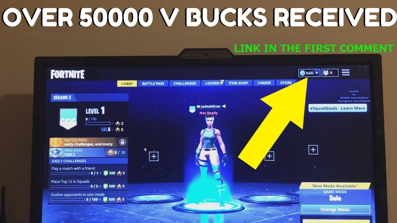 Pin on Fortnite Free V Bucks Generator