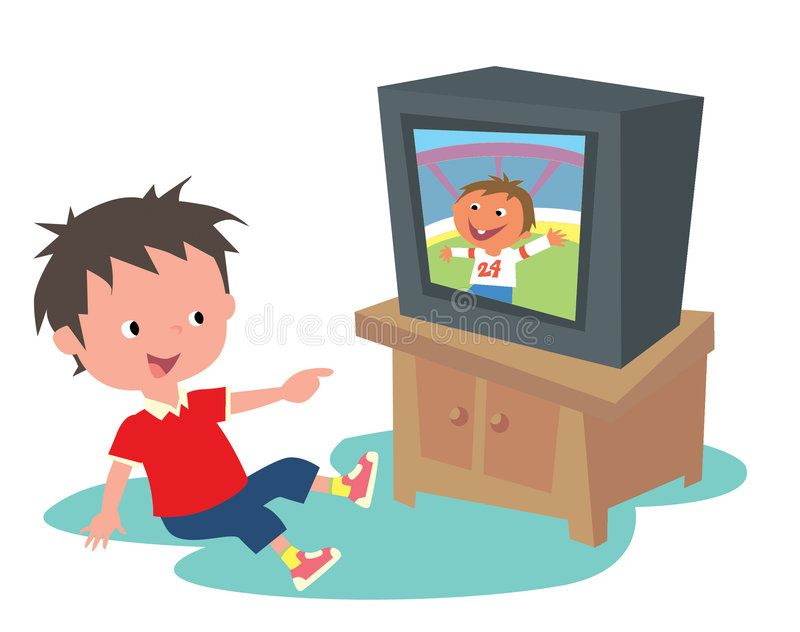 Kid Watching Tv A Boy Smiling Happily Seeing Himself Show Up On Tv Spon Tv Watching Kid Boy Sho Camping Crafts For Kids Clown Crafts Kids Clipart